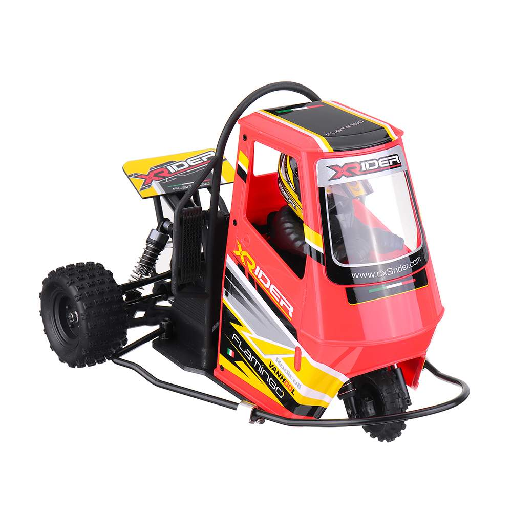 X-Rider Flamingo 1:18 2.4G 2WD Rc Electric Tricycle RTR Model 2 in 1 ESC High Speed RC Motorcycles Outdoor Vehicle Toys