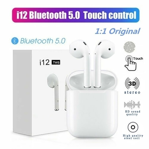 <font><b>Mini</b></font> <font><b>I12</b></font> <font><b>TWS</b></font> <font><b>Bluetooth</b></font> <font><b>5.0</b></font> <font><b>Earphone</b></font> <font><b>Wireless</b></font> <font><b>Smart</b></font> Touch Control Earbuds Headset Headphone with HIFI Sound Quality Built-in Mic image