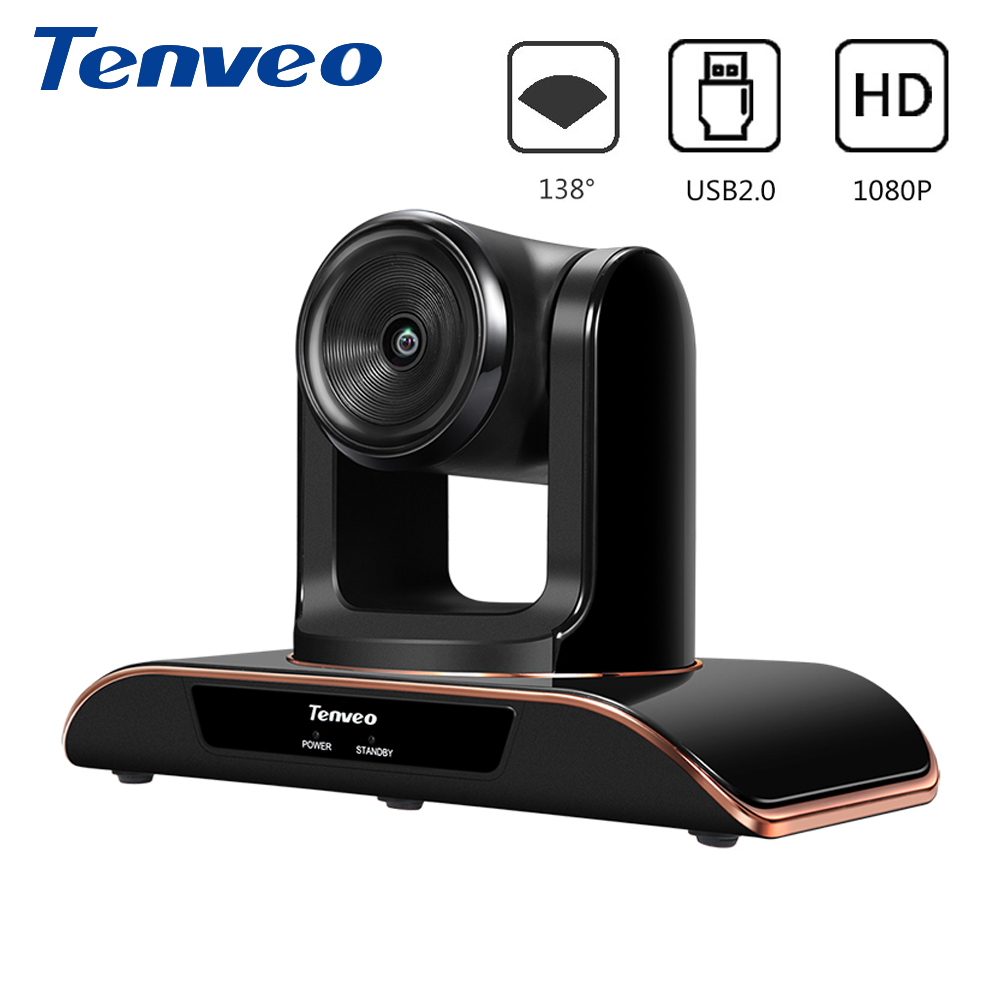 Tenveo VHD1080 Pro 8MP Full HD 1080P PTZ Camera USB Webcam Supports H.264 And Amazon Chime Pan Tilt Zoom 138 Degree Fixed Focus