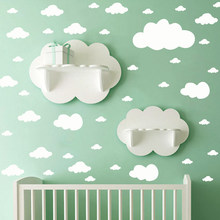 55Pcs White Clouds Wall Stickers home decor Vinyl Mural For Children Room Baby Nursery Decorative Sticker Mural