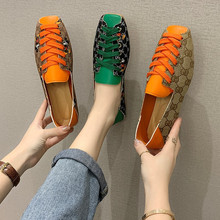 Ladies Shoes Square Toe Hot-Sale Woman Shallow Corporis with Female Size-35-40 Mixed-Colors