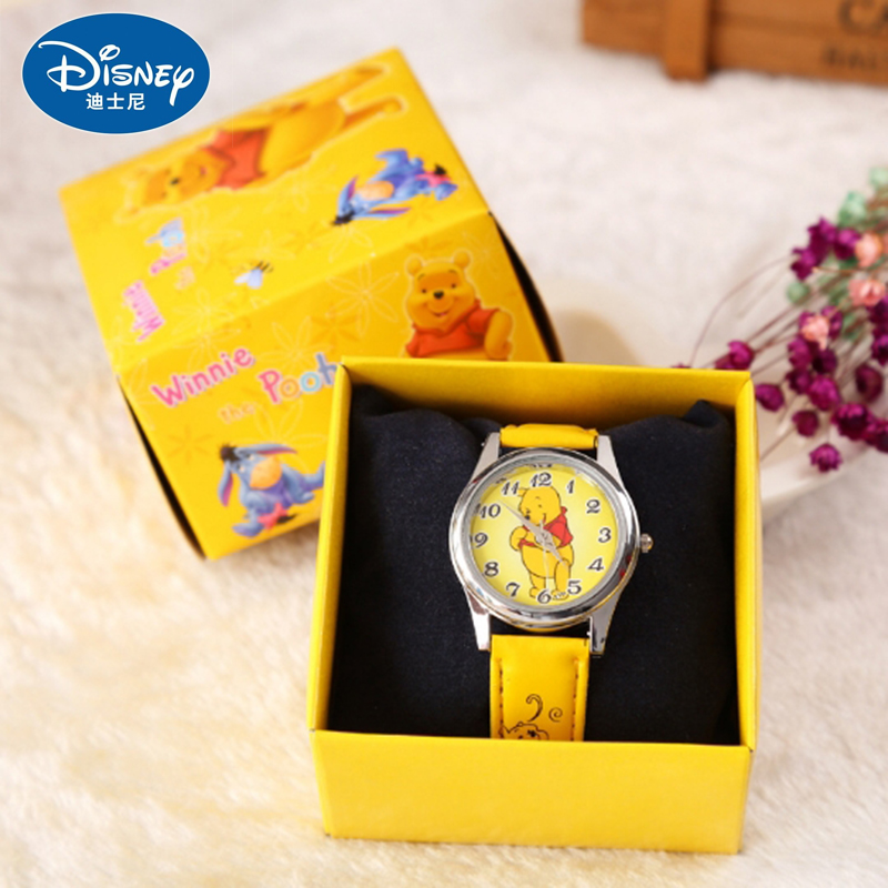 Disney Watches Winnie The Pooh Silicone Watch Child Quartz Wrist Random Color Random 1pcs Fashion Cartoon Girl's Watch Gift Toys