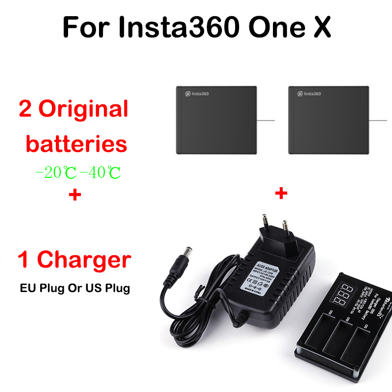 In Stock Original Battery For Insta360 ONE X 1200mAh LiPo Batteries Insta360 ONE X Charger Micro