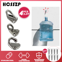 HCSSZP 4 Pieces Locked Fender Spring Hooks Stainless Steel 316 Snap Coat Cap Hook Attach Rope Boat Sail Tug Ship Marine Hardware