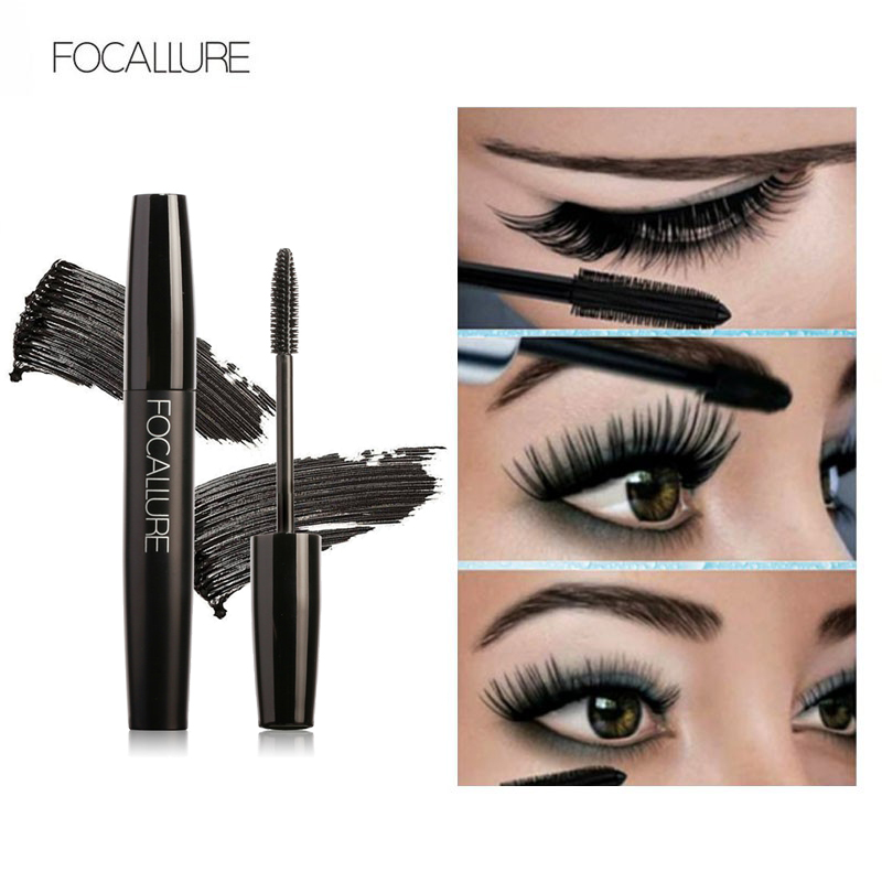 New Professional Volume Curled Lashes Black Mascare Waterproof Curling Tick Eyelash Lengtheing Eye Makeup Mascara by Focallure image