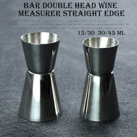Aço inoxidável cocktail medida copo duplo jigger barra ferramenta|Copos de medição| |  -