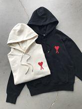 2021 nouvelle Mode Pure Sweat À Capuche En Coton AMI SWEAT À CAPUCHE Brodé Coeur Rouge Pour Hommes et Femmes sweat Top