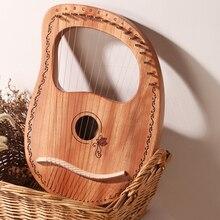 Мини Lier арфа подарок для путешествий профессиональный звук развлечения Портативный Практика дети 10 16 струнный музыкальный инструмент твердой древесины