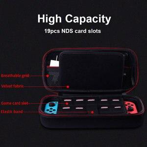 Image 4 - 닌텐도 스위치 여행 운반 케이스 보호 EVA 하드 스토리지 가방 파우치 커버 NS 닌텐도 액세서리 HDD 우편 케이스