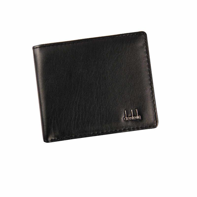 Pria Dompet Kantong Bifold Bisnis Kulit Dompet Identitas Pemegang Kartu Kredit Kualitas Tinggi Kartu Kredit Case untuk Pria Tas Fashion # P