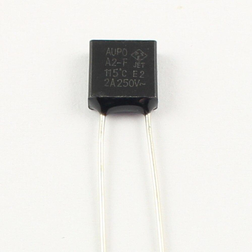 3x A2-F fusible thermique 2 A 115 ° C aupo