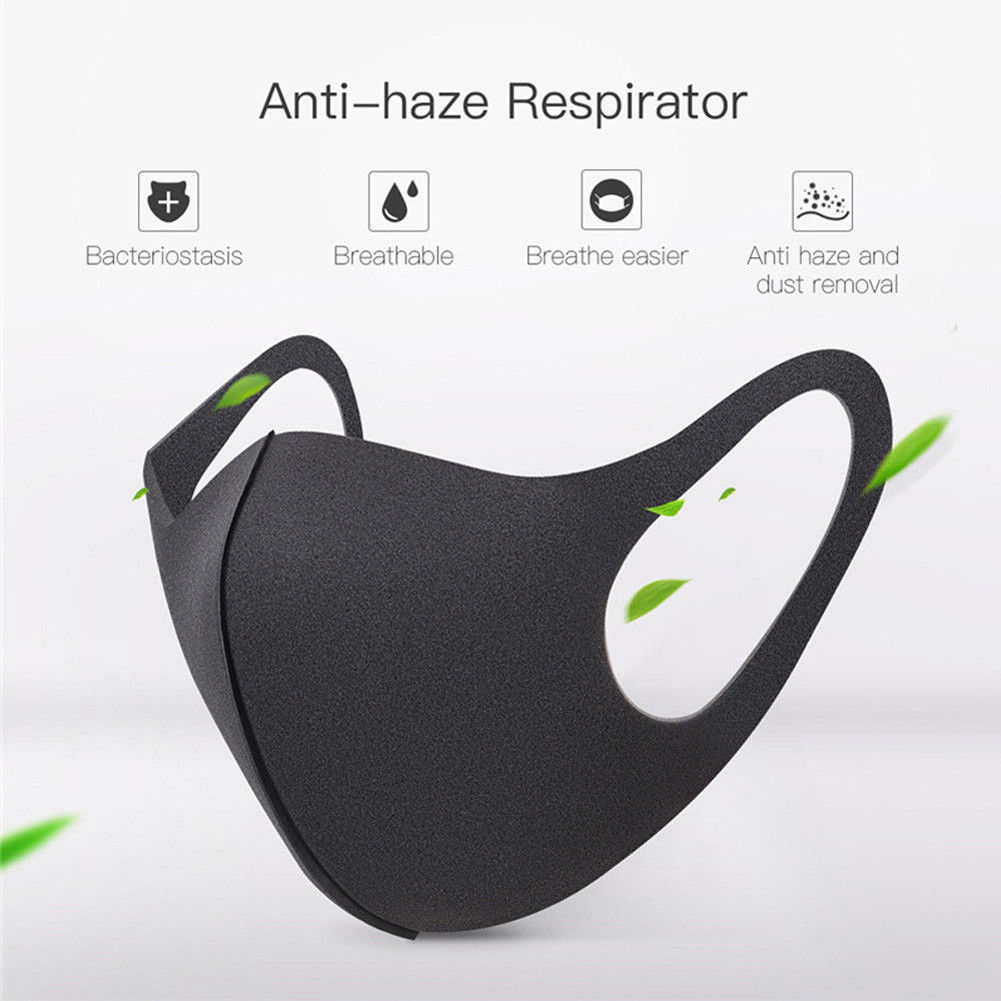 Unisex Adult Mouth Mask Breathable Face Mask Reusable Anti Pollution Face Shield Wind Proof PM2.5 Mask Dustproof Outdoor Travel