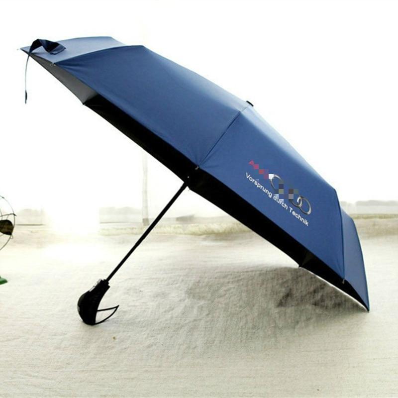 Wind Resistant Folding Automatic Umbrella Rain Women Men Auto Luxury Windproof Umbrellas Rain Black Coating With For AUDI Logo