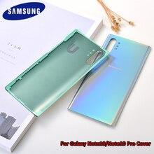 Samsung carcasa de batería para móvil, protector 3D de cristal para puerta trasera, con pegatina, modelo Note 10 Pro N970 Note 10 plus