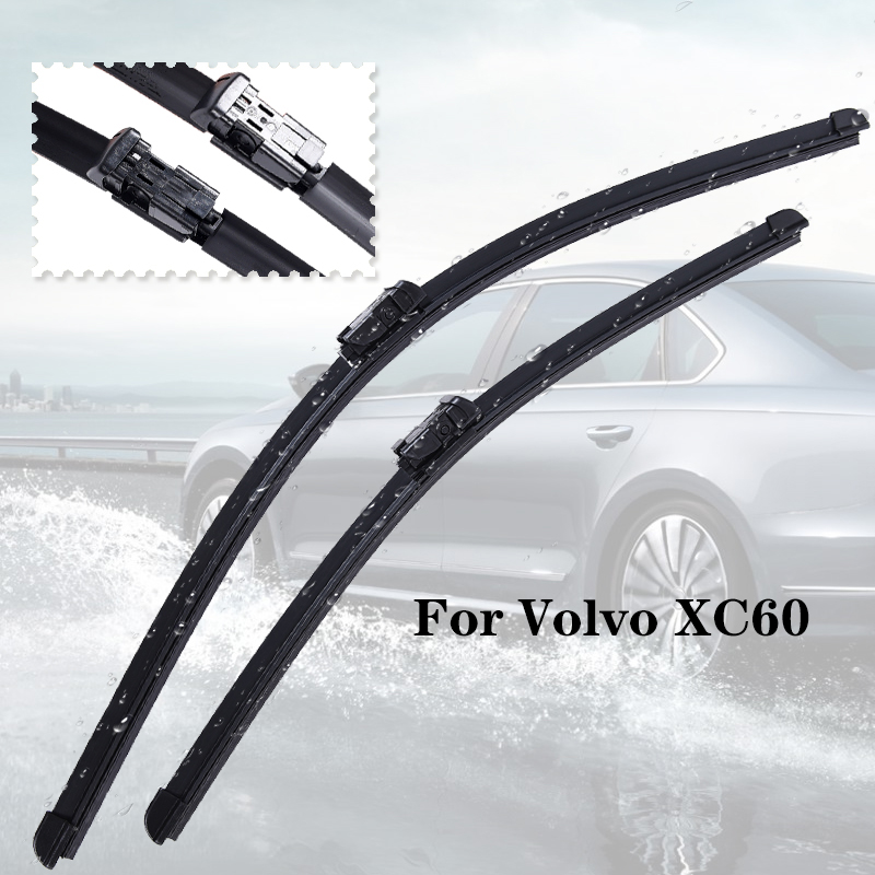 Wiper blades For <font><b>Volvo</b></font> <font><b>XC60</b></font> from 2008 2009 2010 2011 2012 2013 2014 2015 <font><b>2016</b></font> to 2020 Clean car windshield image