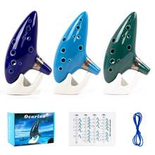Ocarina of time 12 tones alto c w/ song book display stand neck
