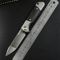 TwoSun ts49 D2 blade folding Pocket Knife tactical knives hunting Knives Titanium Carbon Fiber Fast Open flipper gift Knife