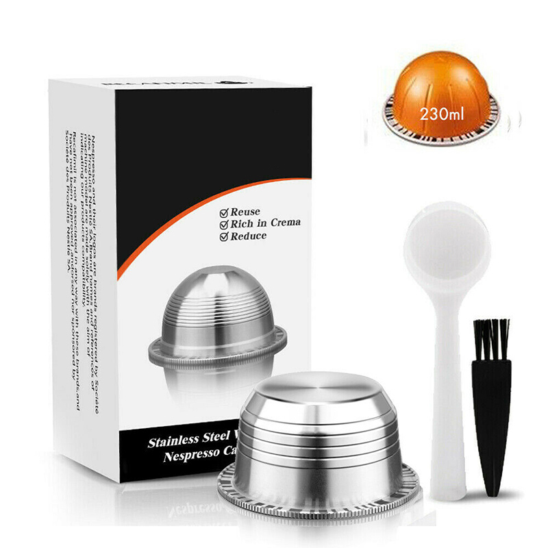 For Nespresso Vertuo Coffee Capsule Set ENV135BAE For Krups XN 9031 Reusable