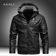Men Winter New Leather Jackets Coat Motorcylce Casual Fleece Thicken Motorcycle PU Jacket Biker Warm Leather Men Brand Clothing