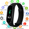Temperature M4pro Color Screen Smartwatch 2020 Blood Pressure Heart Rate Health Monitoring Bracelet Sport Smart band 4 Watch fit