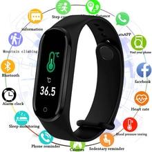 Температура M4pro Цвет Экран Smartwatch 2020 крови Давление сердечного ритма мониторинг здоровья Браслет спортивный смарт-браслет 4 часы подходят