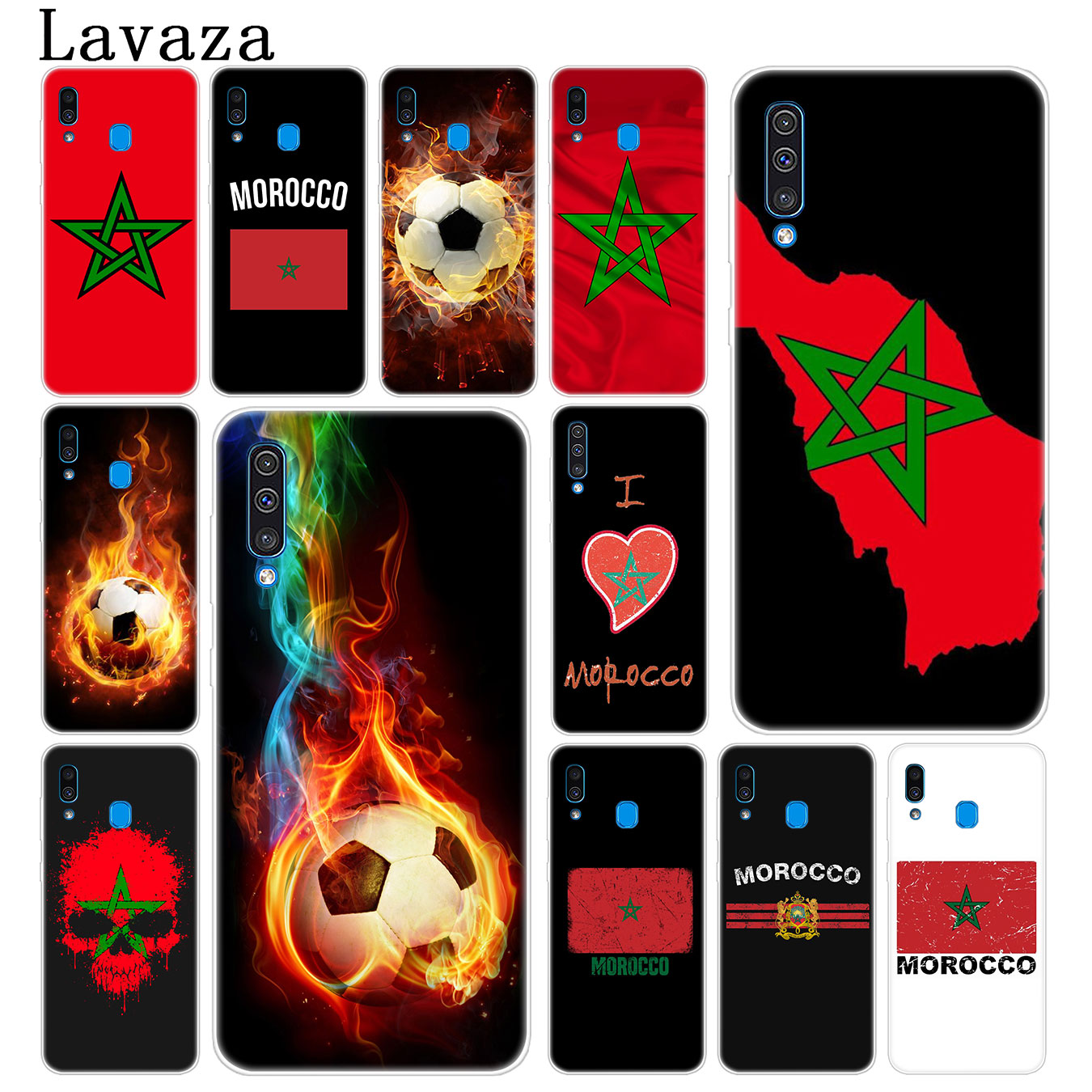 Lavaza morocco <font><b>flag</b></font> soccer football Phone Cover Case for <font><b>Samsung</b></font> Galaxy A70 A60 A50 A40 A30 A20 <font><b>A10</b></font> M10 M20 M30 M40 A20e Cover image