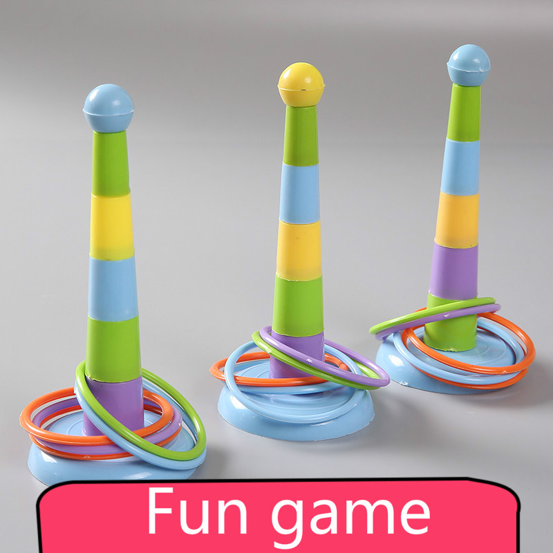 1 Set Mini Props Indoor Outdoor Colorful Piling Ring Separable Throw Circle For Children Kid Toy Sport  Funny Family Game