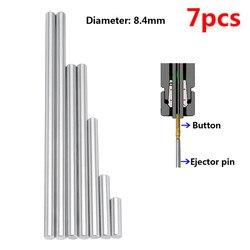 7 sztuk 8.4mm zestaw pinów wypychacza pchanie przyciski Rifling wysoka twardość pełna specyfikacja maszyna Chucking rozwiertak narzędzia akcesoria