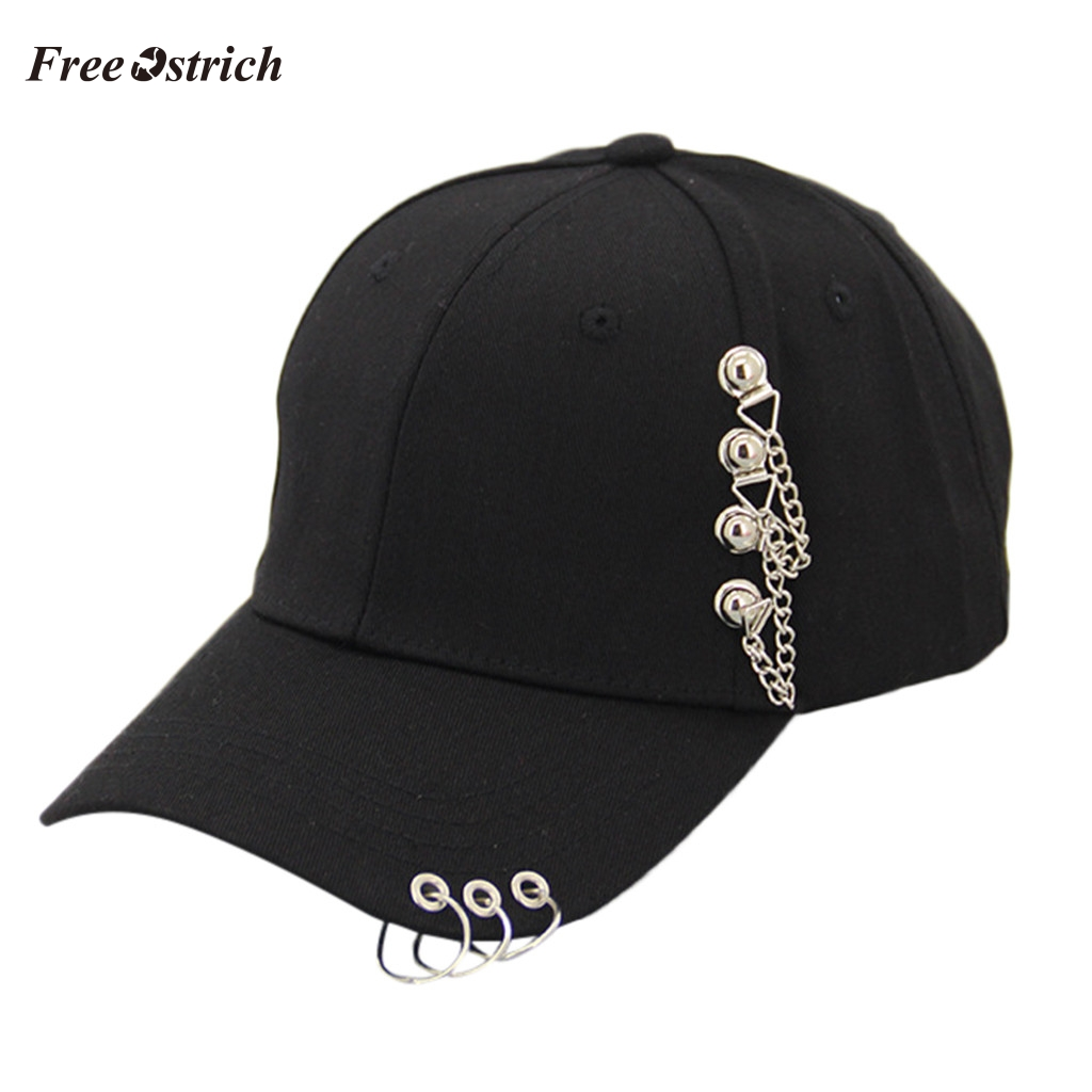 Free Ostrich Unisex Casual Solid Adjustable Iron Ring Baseball Caps Snapback Cap Casquette High Quality Comfortable Hats 91031