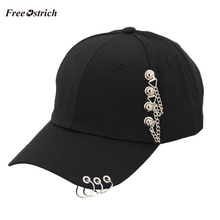 Free Ostrich Unisex Casual Solid Adjustable Iron Ring Baseball Caps