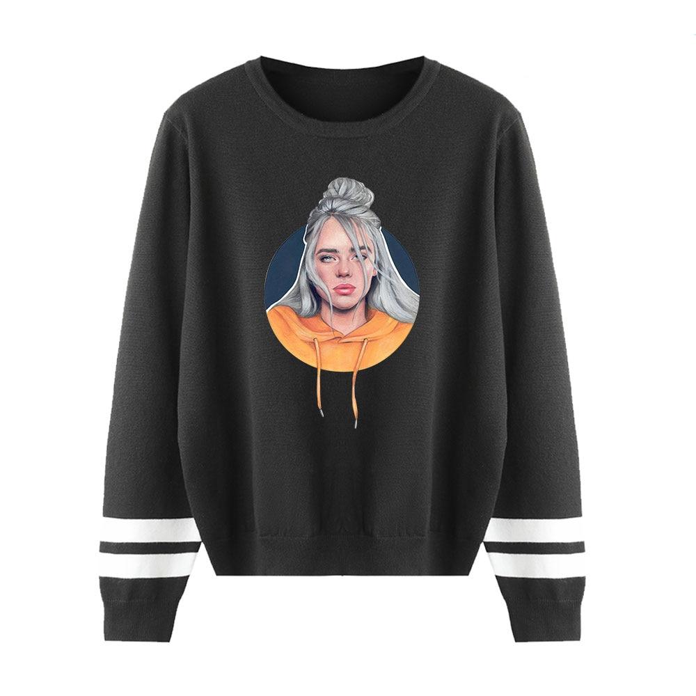 Billie Eilish Knitting Sweaters O-Neck Couples Sweaters Streetwear Personality Casual Sweaters Men Women Fashion Warm Sweaters
