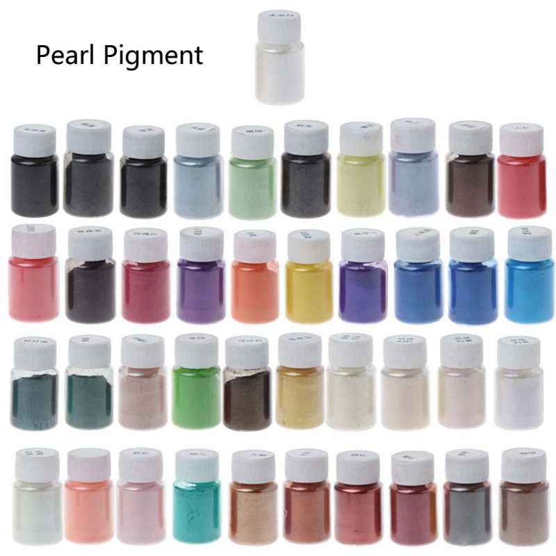 ANGELADY 41 Colors Pearlescent Mica Powder Epoxy Resin Dye Pearl Pigment Jewelry Making 10g  DIY Tools