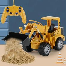 Remote Control Simulation Excavator Engineering Car Tractor Model Children Kids Toy Gift