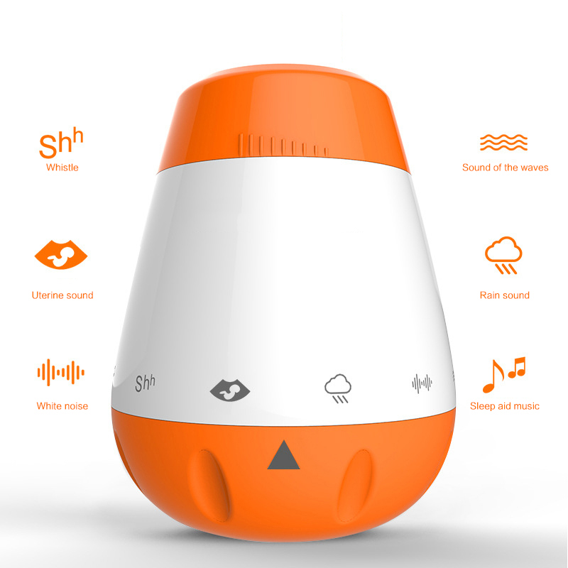 White Noise Machine Sleep Aids Instrument 6 Soothing Sounds Smart Baby Sleep Pacifier Relaxed Sleeping Gift For Adult Children