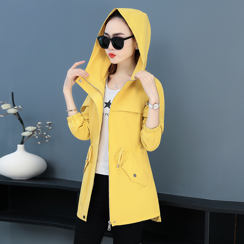 DHfinery Autumn coat female short paragraph 2019 new early autumn ins tide Korean version loose wild casual jacket windbreaker 3