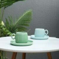 Luxury Ceramic Coffee Cup Tea Cup Chinese Japanese Tea Cup Ceramic Mug Juego De Cafe Cyan Chinese Retro simple Tea Set FF70C24