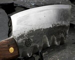 Image 4 - XITUO cuchillo de Chef japonés de alta forja de acero revestido de carbono, cuchillo de Chef Santoku, cuchillo antiadherente Nakiri Cleaver Gyuto Kiritsuke