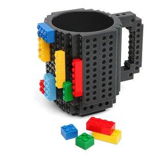 Image 2 - 350ML kupa bardak süt kahve su Build On tuğla tipi kupa bardak su tutucu yapı taşları tasarım hediye