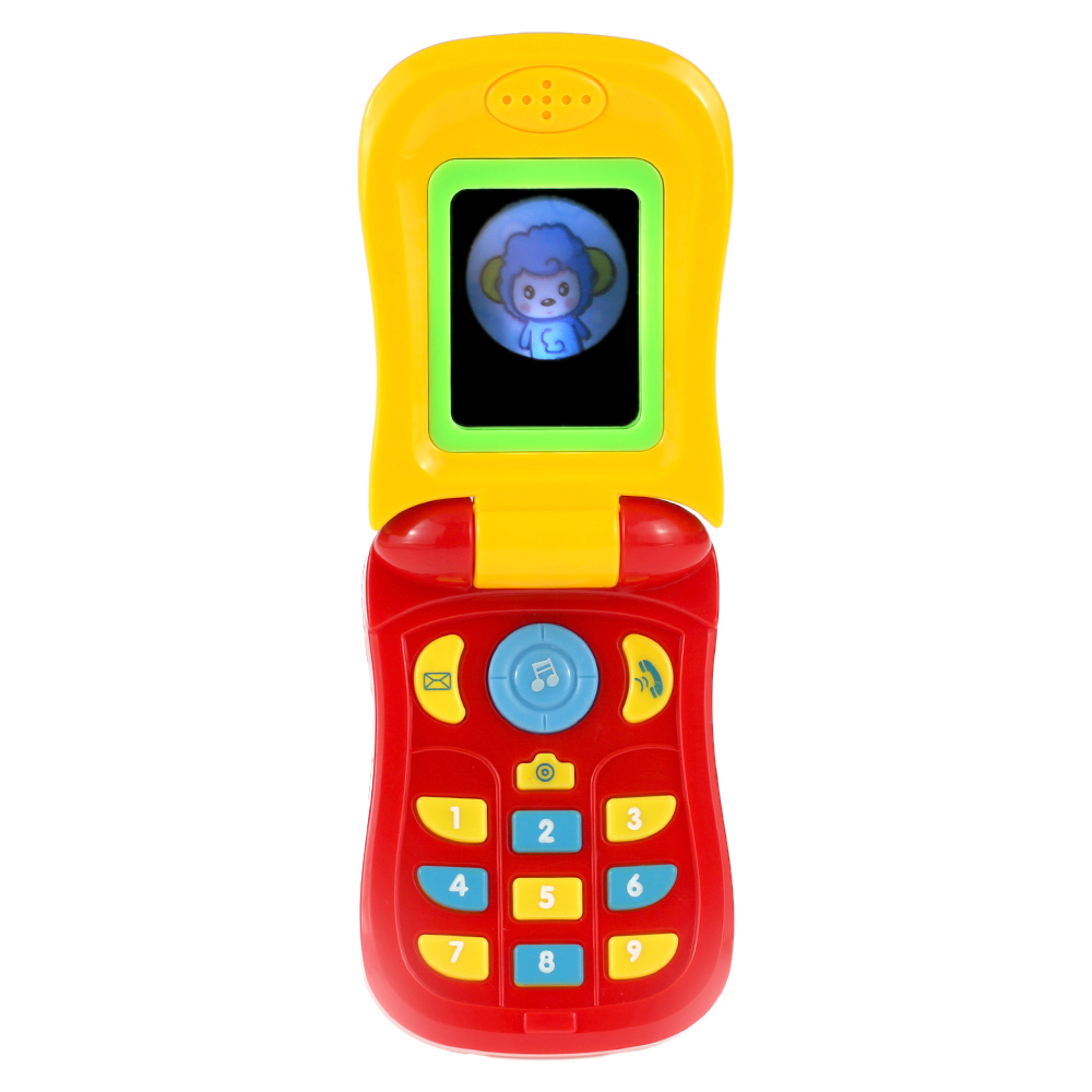 HOT Funny Flip Phone Toy Baby Learning Study Light Musical Sound Phone Educational Toy Music Mobile Phone Electric Toy For Kid