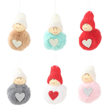 DIY Christmas items Plush Doll Pendants Mini Snowman Hanging Ornaments Assorted Colors for Holiday Xmas New Year Decorations