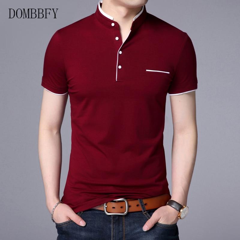 Летняя рубашка поло Для мужчин Повседневное хлопок сплошной Цвет Poloshirt Для мужчин's футболка из дышащей ткани для гольфа, тенниса бренд одеж...