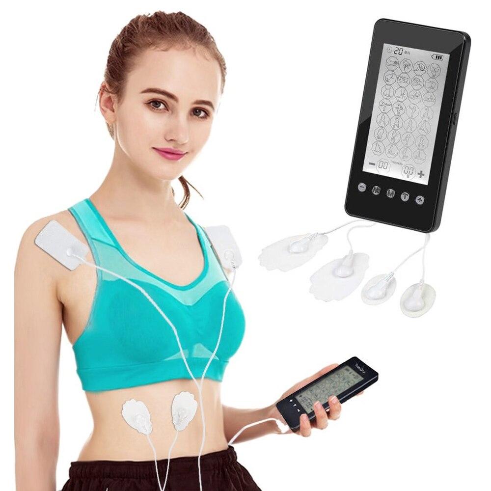 Электрическая физиотерапия десять массажер миостимулятор мышц тела Блок 28 режимов клей гель терапия Стимуляция Массажер