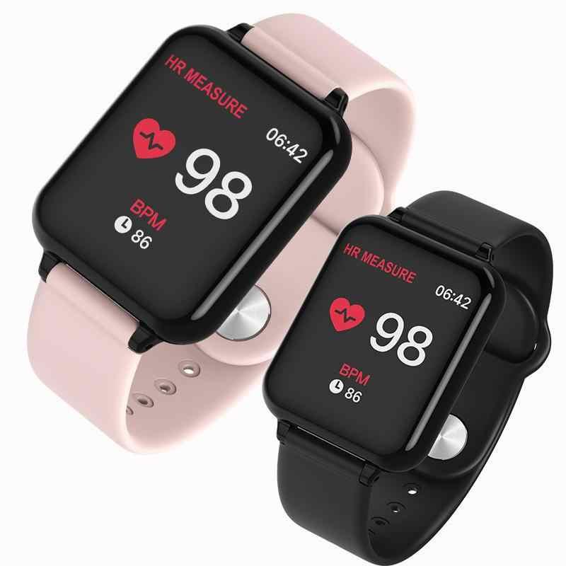 B57 スマート腕時計防水スポーツ iphone 電話スマートウォッチ心拍数モニター血圧機能女性の男性の子供