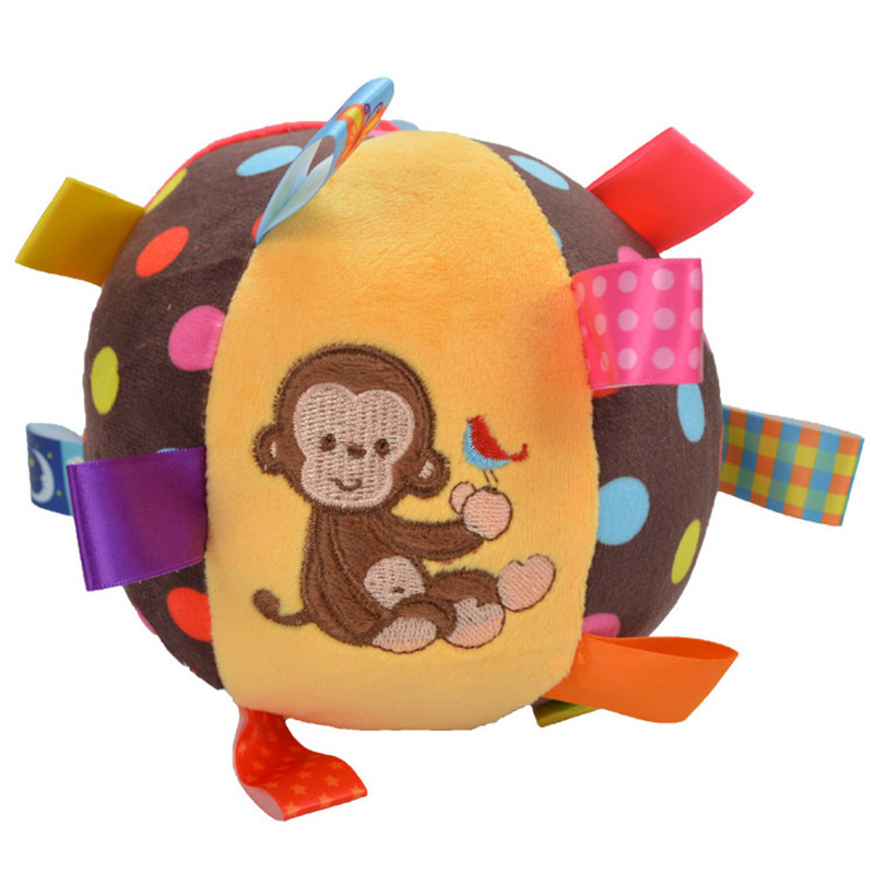 New Born Baby Toys Animal Ball Soft Stuffed Balls Infant Rattles Body Building Educational Plush Cotton Hand Grasp For 0-24month