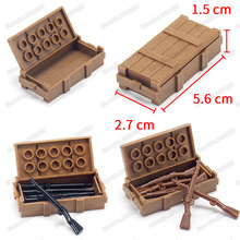 Legoinglys Soldier Figures Material Box Military World War 2 Weapons Army Special Forces Series Moc Child Christmas Gift Toy