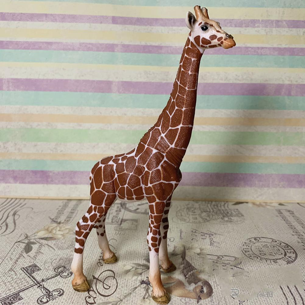 6.7inch Big Size Giraffe Toy Set Plastic Play Toys Giraffe Model Action Figures Kids Boy Kids Gift Educational Toys