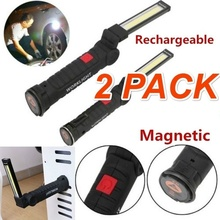 5 Mode COB Flashlight Torch Usb Rechargeable Magnet Work Light Magnetic Hanging Hook Lamp for Outdoor Camping