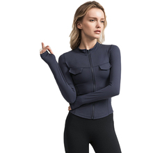 Yoga Tops Women S M L Slim Fit Long Sleeved Fitness coat Running Sport Workout Gym Clothing with Thumb Hole