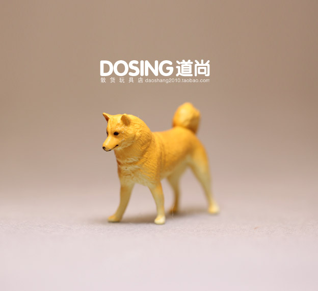 Simulated Animal Yellow Dog Puppy Dog Toy Model Scene Decoration Action Figures Toys for Children Kids Doll Home Decor