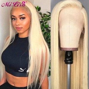 13x6 прямо Синтетические волосы на кружеве парики из натуральных волос на кружевной основе 613 Парик HD прозрачный Синтетические волосы на круж...